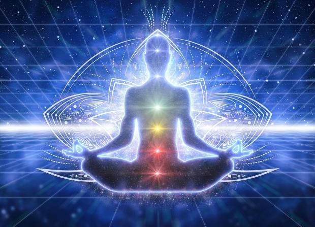 рисунок медитирующего человека
