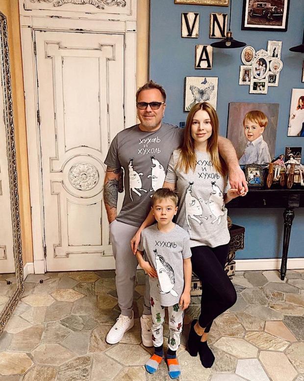 Наталья Подольская, Владимир Пресняков и их сына Артемий