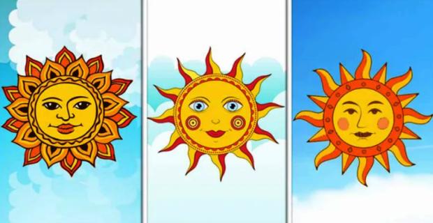 изображение трех солнц для психологического теста