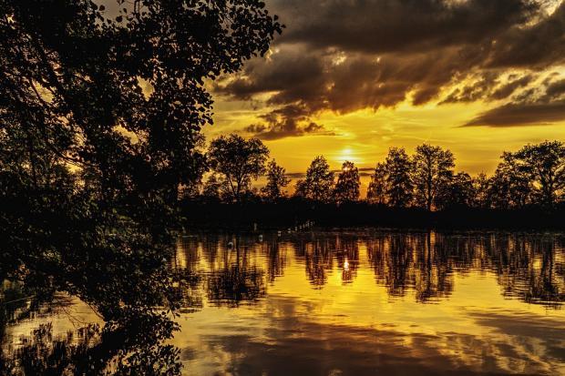 природа озера Сансет