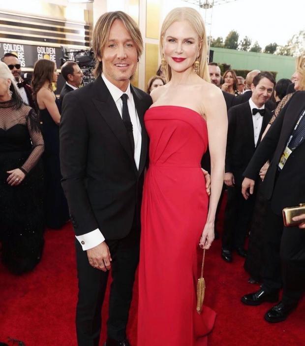 Николь Кидман с мужем на красной дорожке