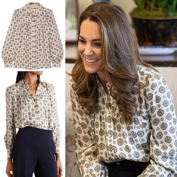 Кейт Миддлтон надела красивую блузу от известного бренда