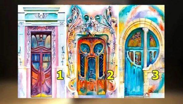 Визуальный тест с тремя дверями