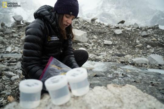 Ученые собирают образцы на Эвересте