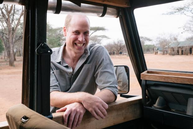 Принц Уильям в Африке