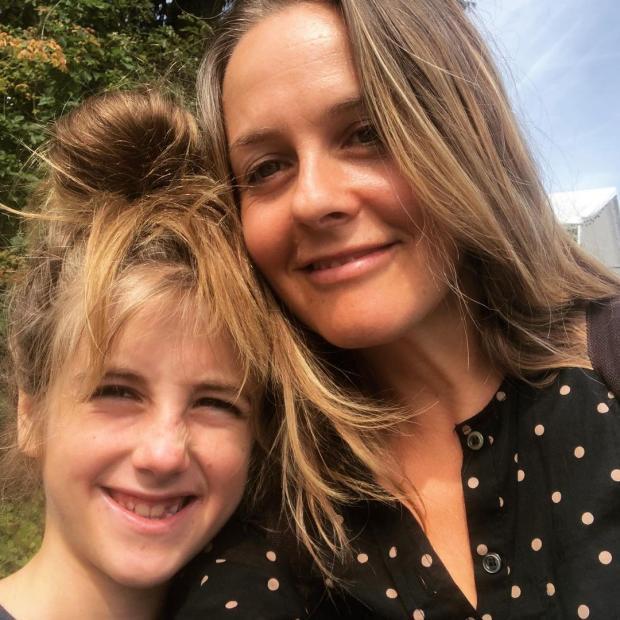 Алисия Сильверстоун с сыном