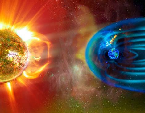 сильное геомагнитное возмущение на Солнце