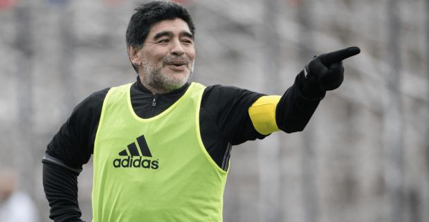 Диего Марадона на футбольном поле