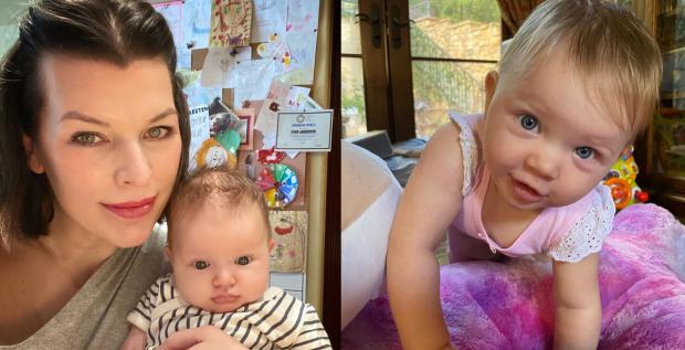 Фото дочери Милый Йовович в младенчестве и сейчас