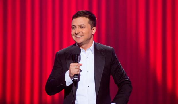 Владимир Зеленский выступает на концерте в Киеве