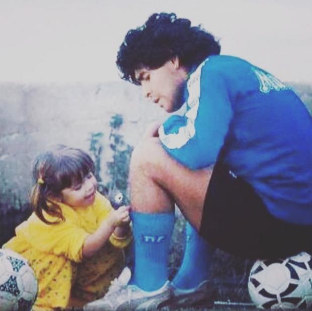 Диего Марадона с младшей дочерью
