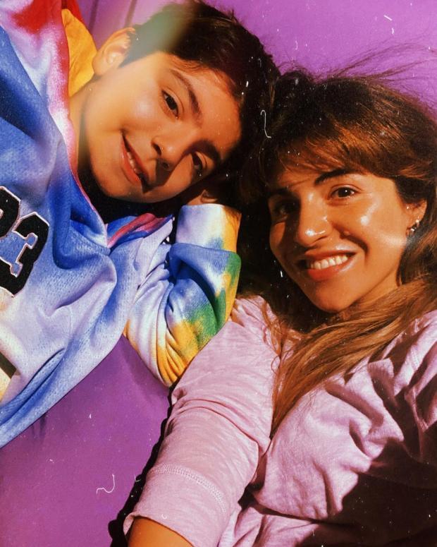 Джаннина Марадона с сыном