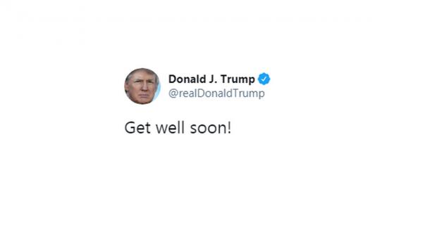 """Твит Дональда Трампа: """"Скорейшего выздоровления!"""""""