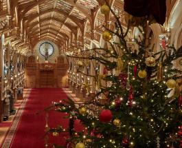 Фото и видео украшенного Виндзорского замка где отметят Рождество Елизавета II и Принц Филипп
