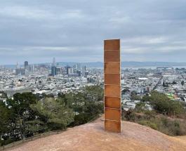 Таинственный монолит из сладкого материала появился в Сан-Франциско в Рождество