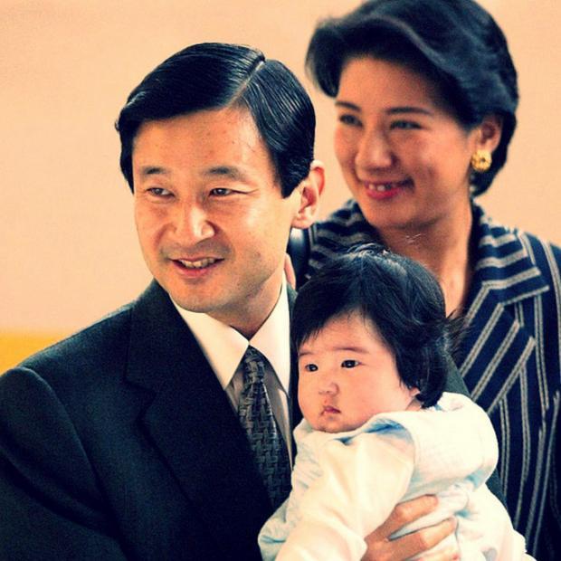 Император и императрица Японии с дочерью