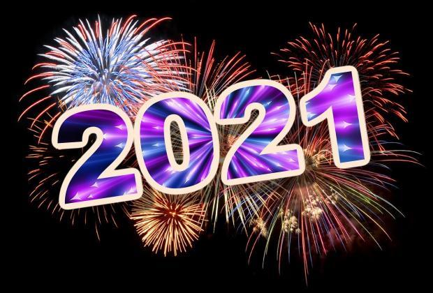 2021 год с фейерверком