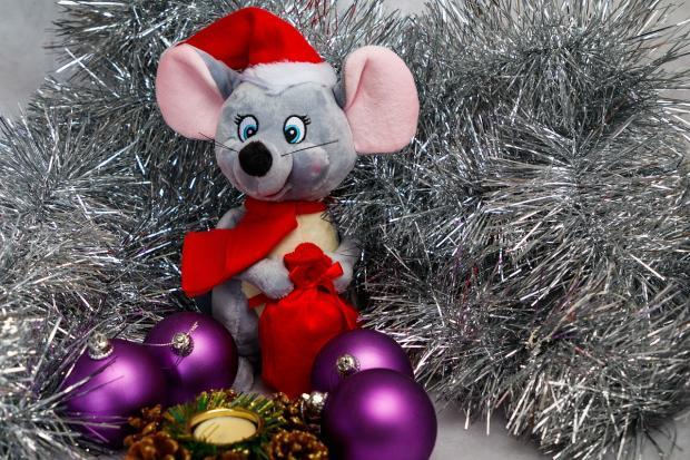 новогодняя игрушка крыса