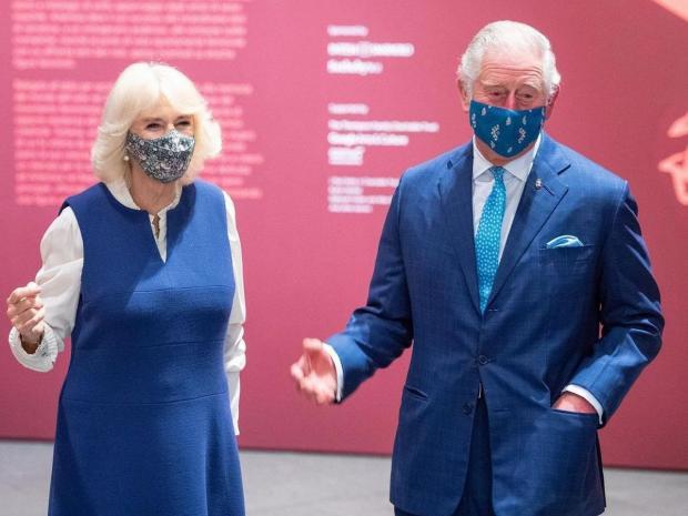 Принц Чарльз и Камилла в картинной галерее