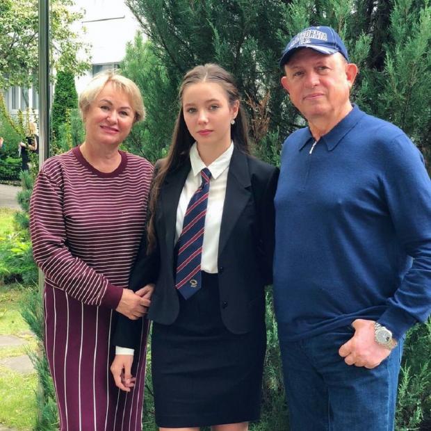 Вера Алдонина с родственниками