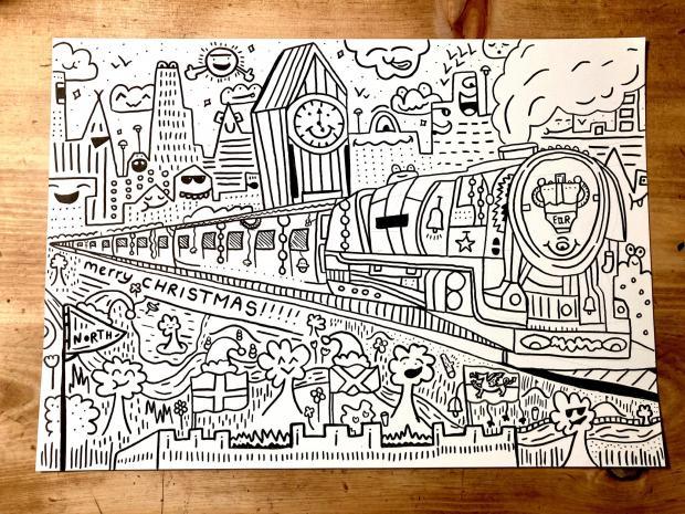 Рисунок поезда