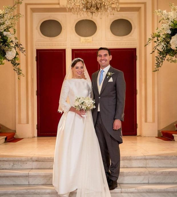 Принц Николай с женой  на свадьбе