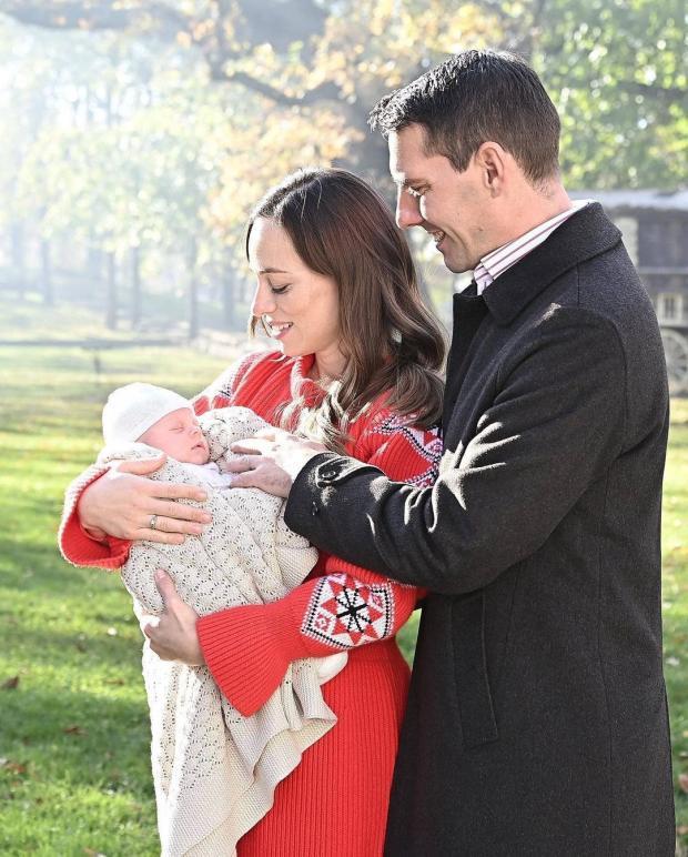 Принц Николай с женой и дочерью