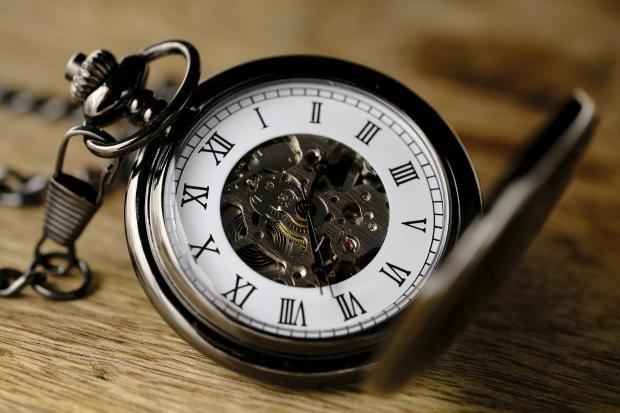 открытые карманные часы