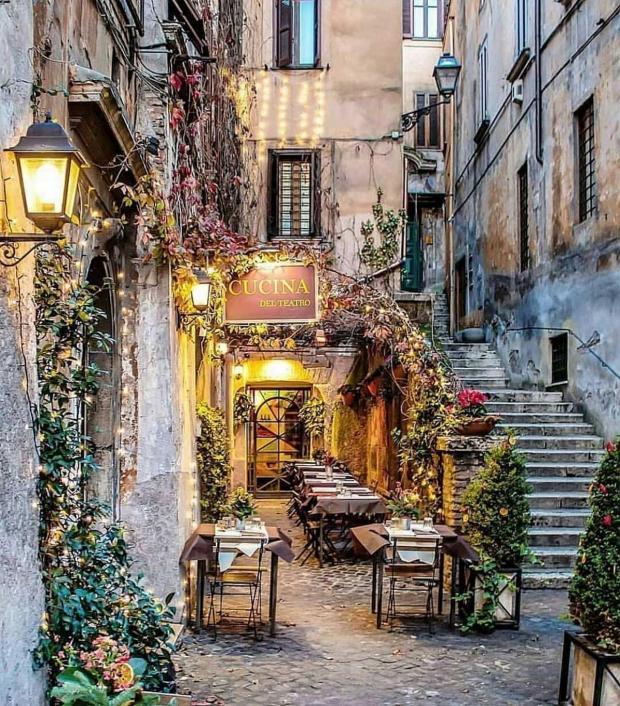 улица в Риме, Италия
