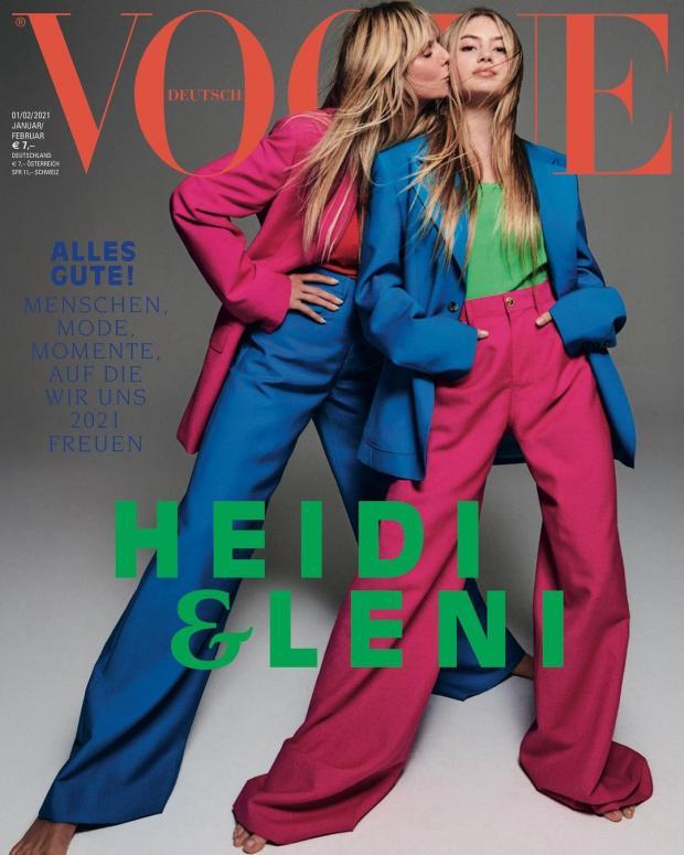 Хайди Клум с дочкой на обложке журнала