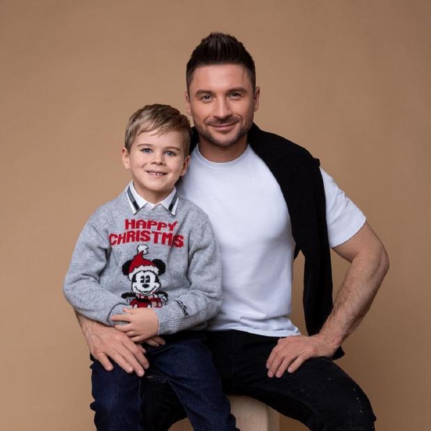 Сергей Лазарев с сыном