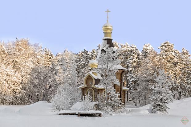 храм Андрея Первозванного на Вуоксе зимой