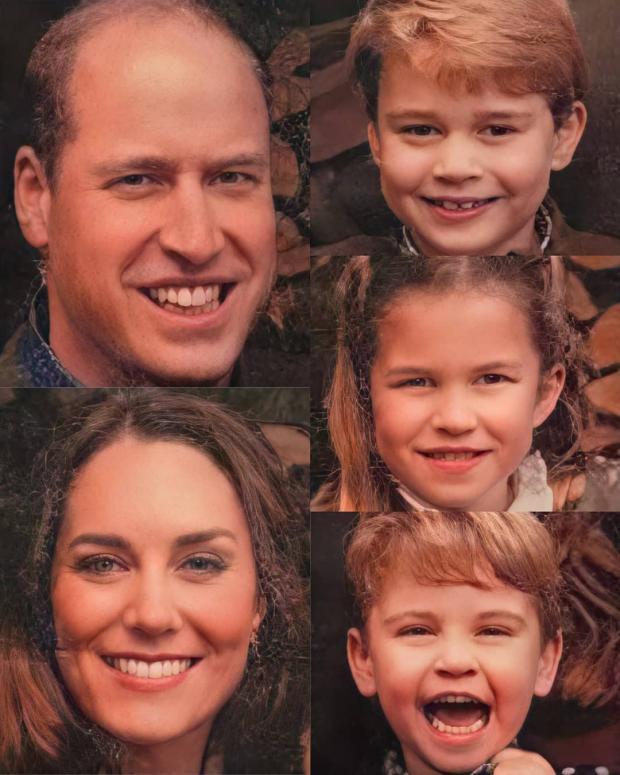 Лица членов семьи Принца Уильяма