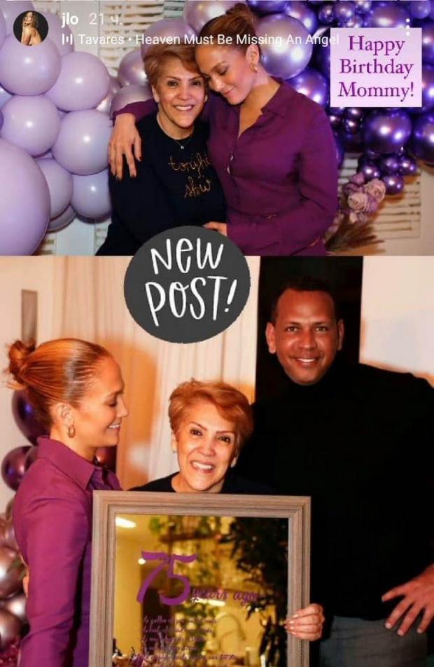 Дженнифер Лопес с мамой и женихом
