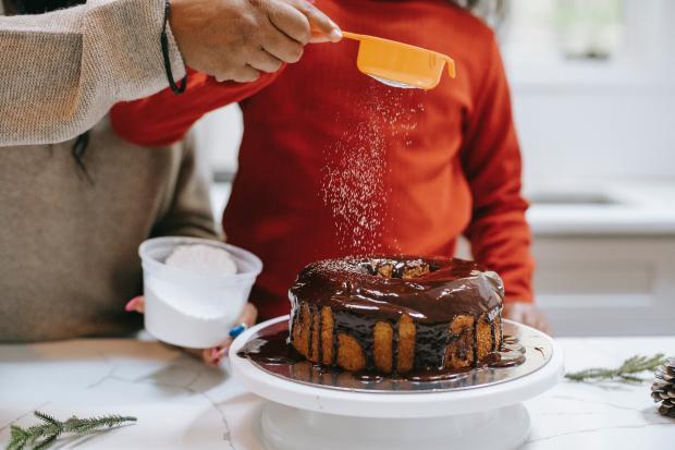 Пирог покрытый глазурью