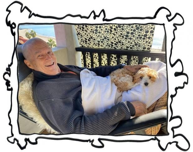 Джефф Бриджес с собакой
