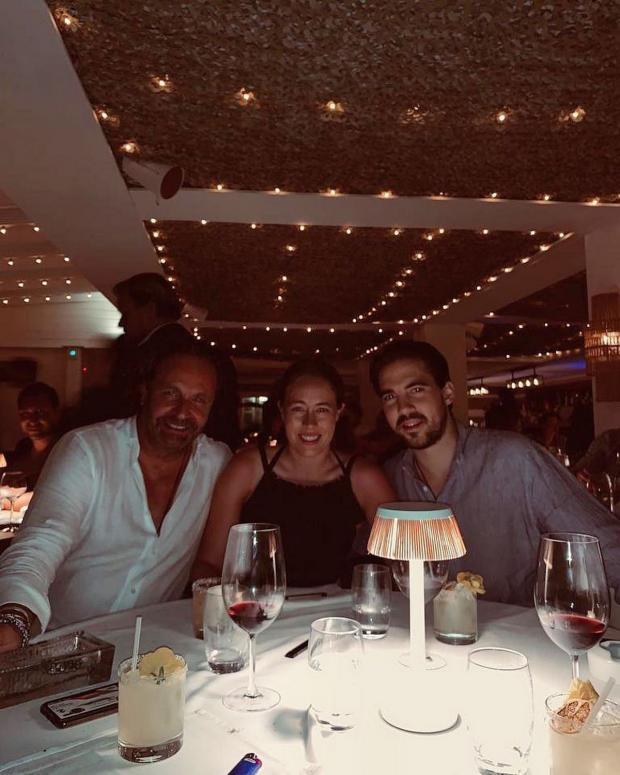 Принц Греции и Дании с женой и тестем