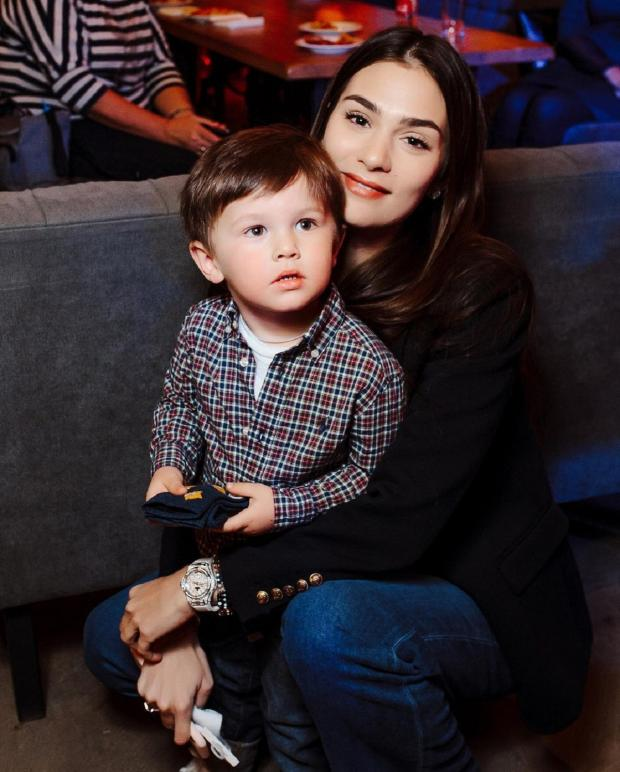 Анастасия Шубская с сыном