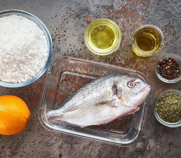 Ингредиенты для запеченной рыбы