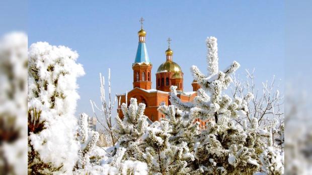 церковь святого Николай Чудотворца зимой