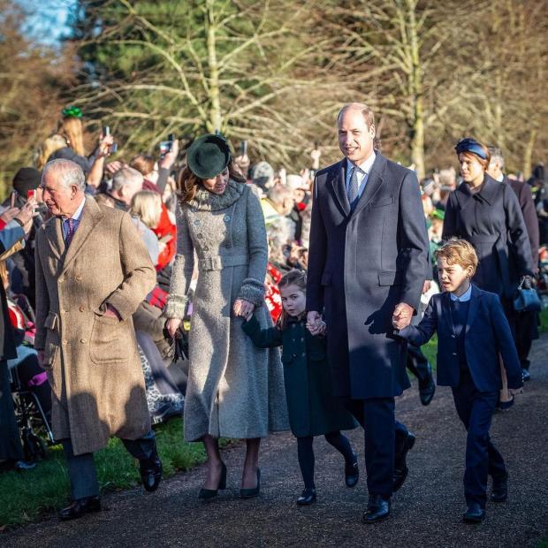Принц Чарльз с сыном, невесткой и внуками