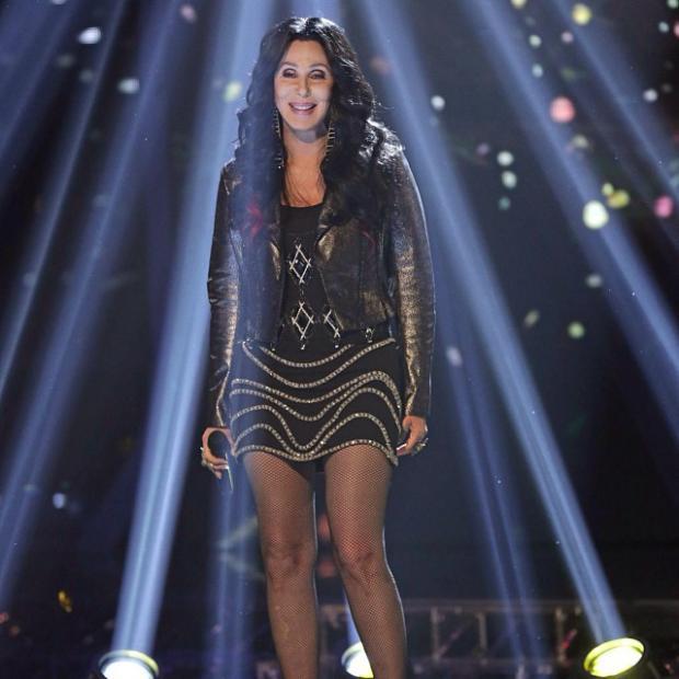 Певица Шер на концерте