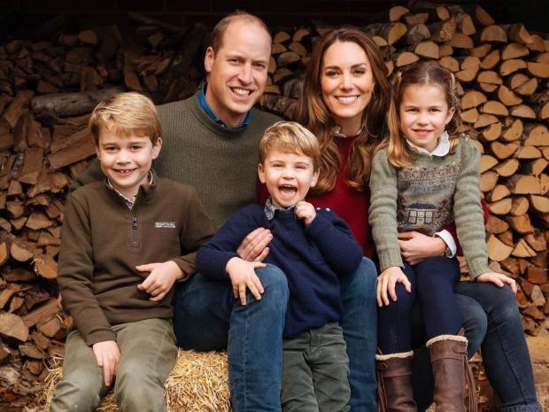 Рождественская открытка принца Уильяма и Кейт Миддлтон
