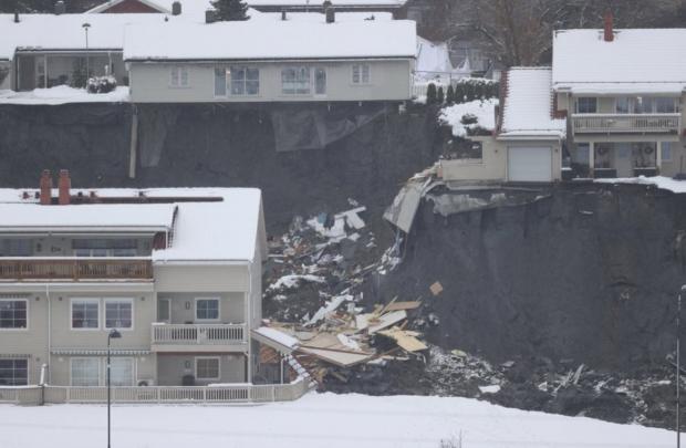 Оползень в Норвегии