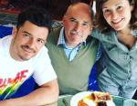 Орландо Блум с отцом Колином и сестрой Самантой