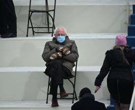 Берни Сандерс использует свое фото с инаугурации Джо Байдена для благотворительности