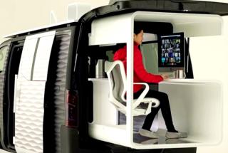 Рабочее место на колесах: Nissan представил концепт авто со встроенным письменным столом