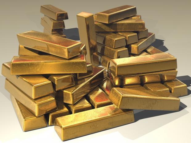 слитки золота стопочкой