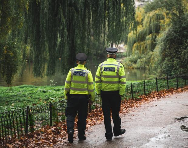 Полицейские в парке