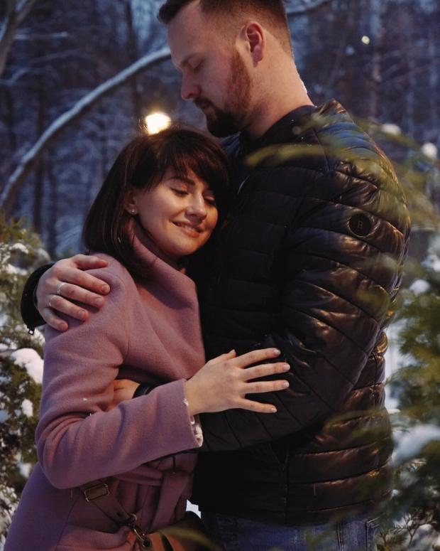 Аня Руднева с мужем